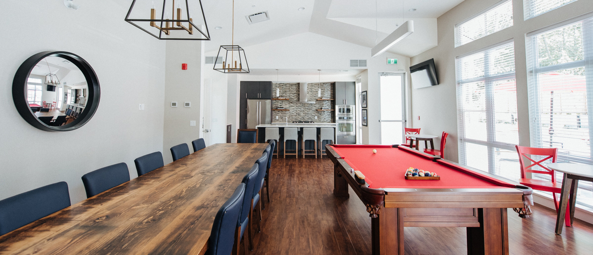 The amenities room at South Ridge Club in South Surrey