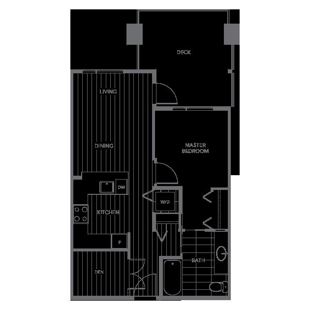 The Shore townhouse floor plan C3