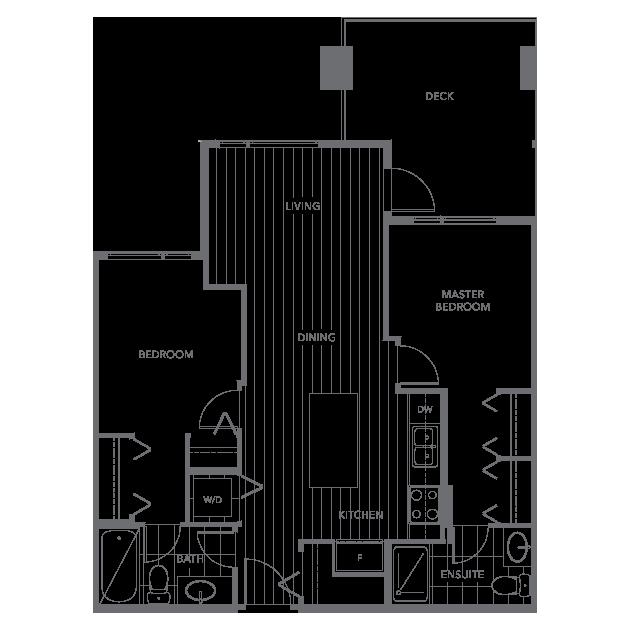 The Shore townhouse floor plan E3
