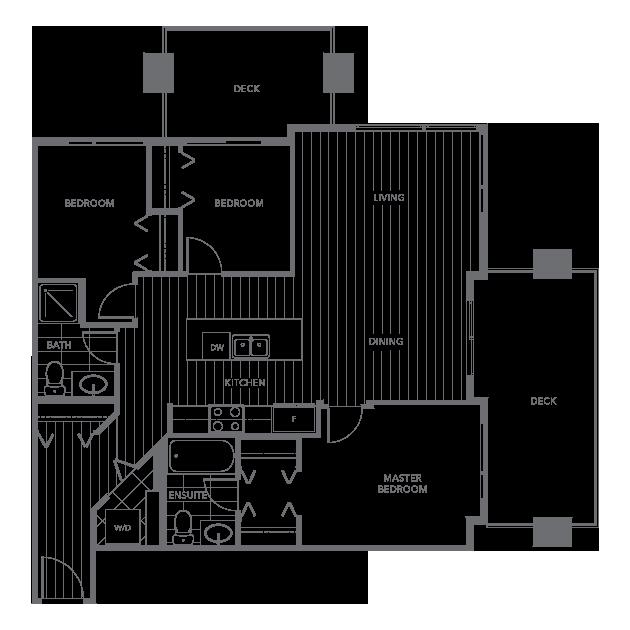 The Shore townhouse floor plan H