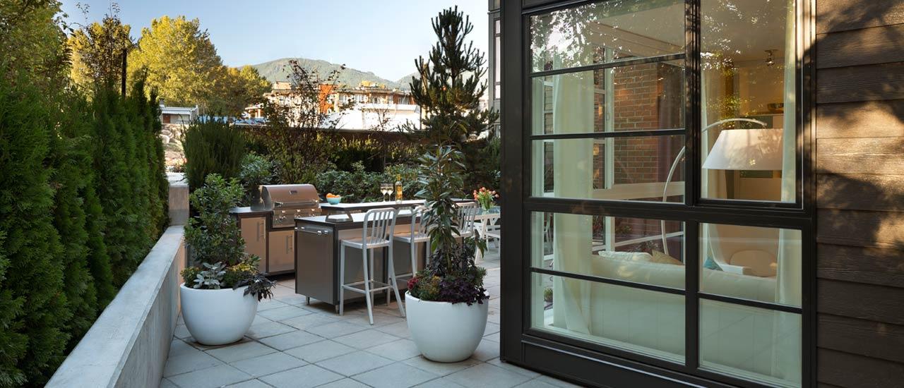 The condos at The Shore have breathtaking patios