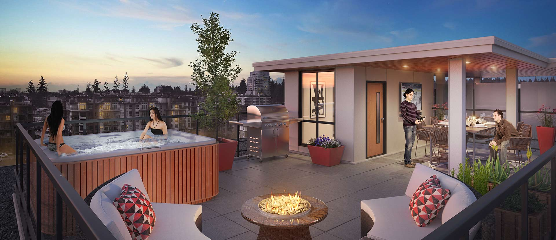 Rooftop access at our Virtuoso Vancouver condos